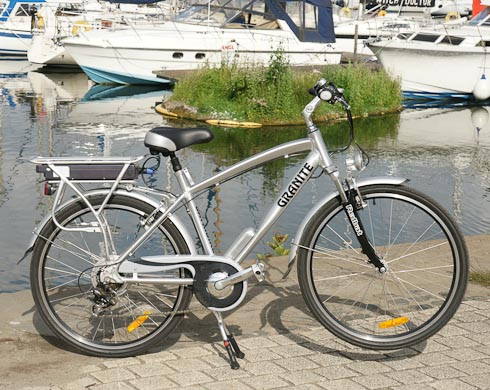 BATRIBIKE Granite electric bike pictured at Swansea Marina