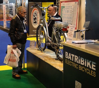 Discussing electric cycles at MotoExpo 2013