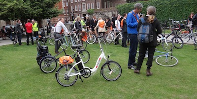 The Batribike Dash stands out at the photo call