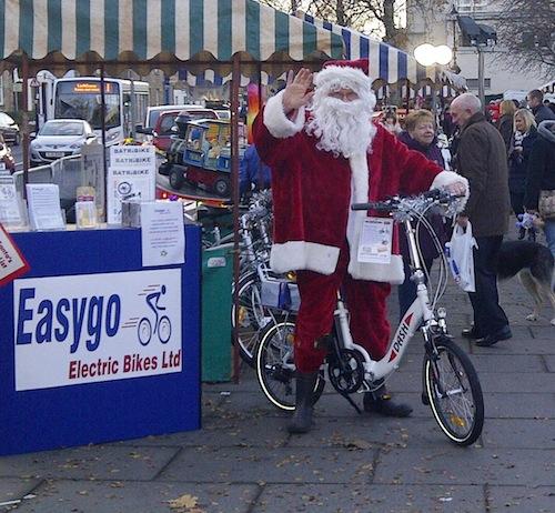 Santa rides the Dash electric bike