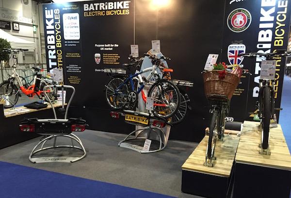 Batribike stand at the London Bike Show