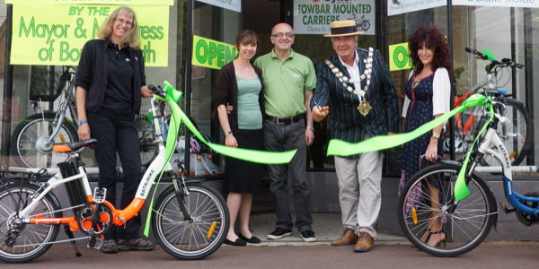 Mayor opens E-Cycles Centre, Bournemouth