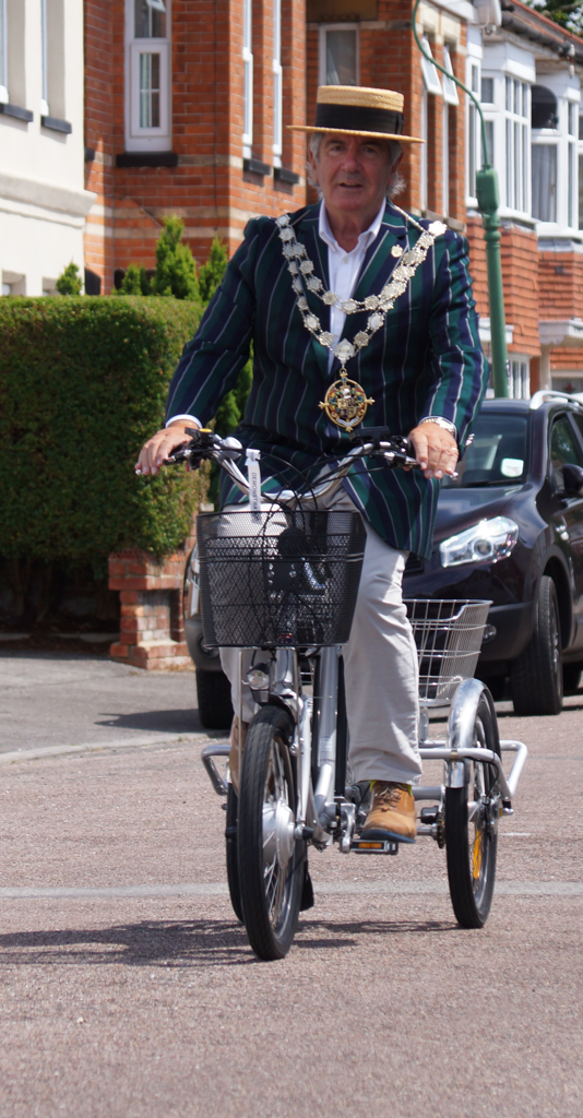 The Mayor of Bournemouth on the Batribike Trike 20