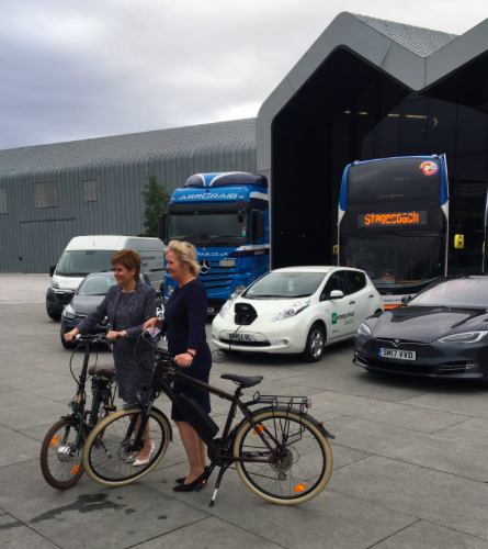 Nicola Sturgeon Electric Transport