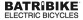 Monochrome (BLACK) version of the Official BATRIBIKE logo for use on a light background