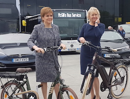 Nicola Sturgeon Promotes Electric Transport